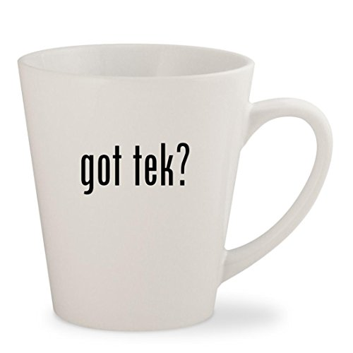 T5 Light Tek (got tek? - White 12oz Ceramic Latte Mug Cup)