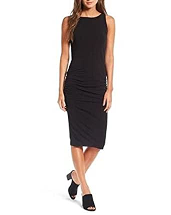 James Perse High Neck Shirred Dress 1