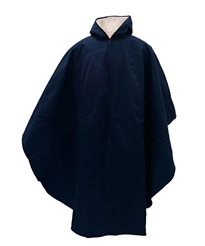 Adaptive Clothes - Womens and Mens Unisex Adaptive Wheelchair Lined Cape - Navy by Silvert's (Image #3)