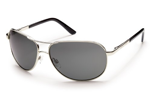 Suncloud Aviator Polarized Metal Sunglasses in Silver & - Sunglasses Polarized Suncloud Aviator