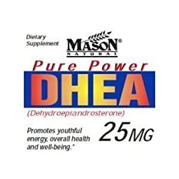 3 Pack Special of MASON NATURAL DHEA 25 MG CAPSULES 60 per bottle