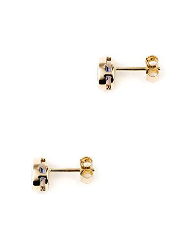 Jaipuri. Instyle-Boucles d'Oreilles Femme-Or 750(18K)-Tanzanite (qualité AAA) larmes de