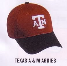 Texas A & M Aggies ADULT Cap NCAA Official Licensed College Velcro Adjustable Hat from OC Sports - Outdoor Cap Co