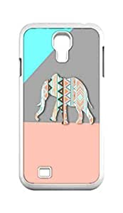 Cool Painting Tribal aztec Elephant Snap-on Hard Back Case Cover Shell for Samsung GALAXY S4 I9500 I9502 I9508 I959 -903