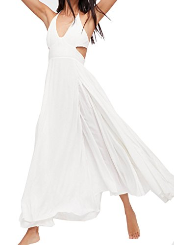 Cotton V-neck Halter Dress - 4