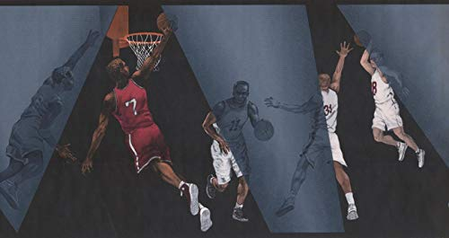 Wallpaper Border - Basket Ball Wallpaper Border IN2663B ()