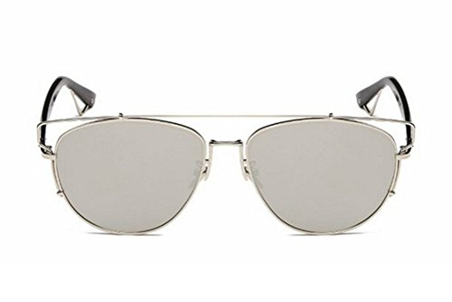 ef10d1d847b GMAT Retro Vintage Mirrored Aviator Sunglasses Metal Frame Classic Style  (Silver Frame Silver