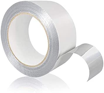TapeKing Zelfklevend aluminium plakband 50 mm x 50 m I hittebestendig aluminium plakband om af te dichten I Alutape Aluband afdichtband isoleren