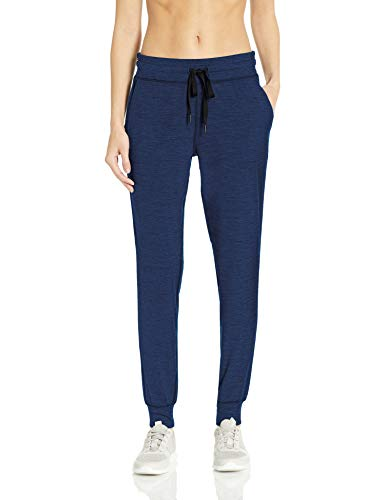 Amazon Essentials Women's Brushed Tech Stretch Jogger Pant, Navy Spacedye, XX-Large