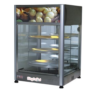 SKYFOOD PD3TS18 PIZZA DISPLAY CASE - TRIPLE TRAY 18'' - STEAM LINE