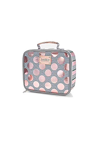Justice Lunch Tote Rose Gold Foil