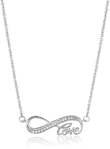 Sterling Silver Zirconia Infinity Necklace