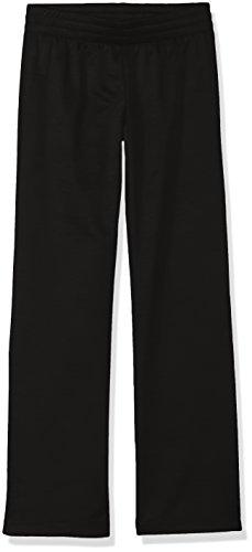 Hanes Girls' Big Tech Fleece Open Leg Pant, Black, Large