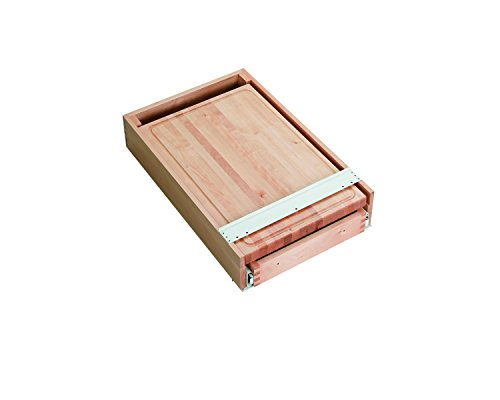 Combination Wooden Knife Holder and Cutting Board by Rev-A-Shelf