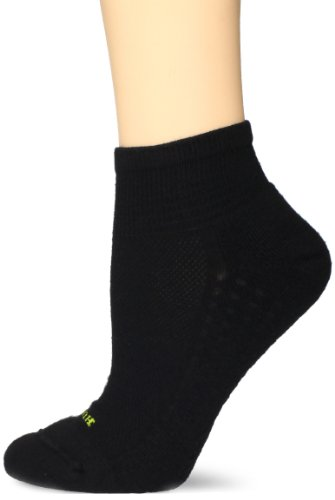 HUE Women's Air Cushion Quarter Top Sport Socks, 3 Pair Pack, Black, One-Size