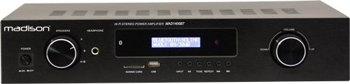 Madison MAD1400BT-BK - Amplificador Hi-Fi con estéreo, color negro Lotronic
