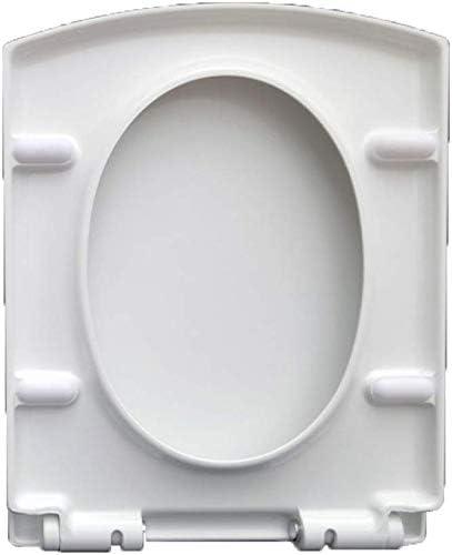 便座ユニバーサル便座スクエアドロップミュート抗菌性尿素ホルムアルデヒド樹脂トップマウントトイレ蓋、A-47 * 37cm