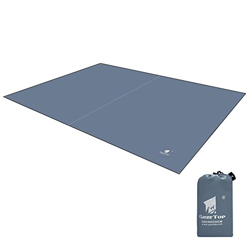 Tent Saver Floor (Geertop Oxford Fabric 4-5 Men Footprint Ground Sheet Tent Tarp Mat Canopy (9'10'' x 7'3'') Waterproof For Camping Hiking Picnic Fishing)