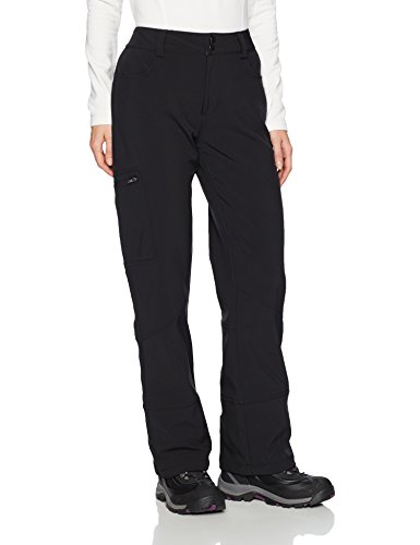 (Arctix Women's Sarah Fleece Lined Softshell Ski Snow Pants, Black, Medium)