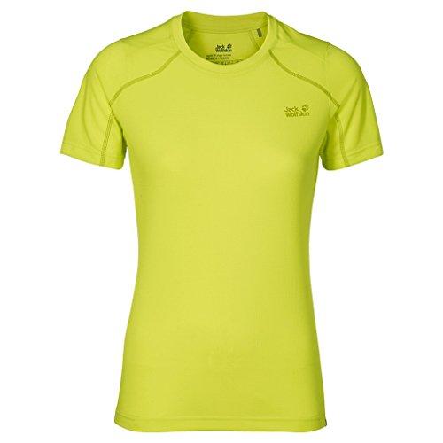 Absinthe Womens Shirt - Jack Wolfskin Women's Helium Chill T-Shirt, Bright Absinth, Small
