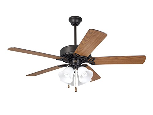 Emerson Ceiling Fans CF711ORB Pro Series II Indoor Ceiling Fan With Light, 50-Inch Blades, Oil Rubbed Bronze ()
