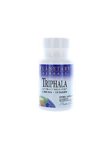Triphala Internal Cleanser 1000mg Planetary Herbals 15 Tabs by Planetary Herbals (Triphala Internal Cleanser)