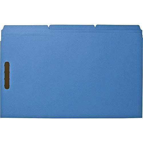 Folders W/2 Ply Tabs - Sparco SP17219 Fastener Folders,w/2-Ply Tab,1/3 AST Tab,50/BX,Lgl,Blue