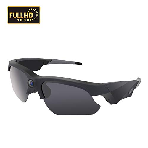 KAMRE Upgraded Sunglasses Camera 1080P Video Recorder Camera with UV Protection Polarized Lens, 120° Wide View Angle for Outdoor Sports, Great Gift for Your Family and Friend