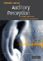 Auditory Perception: An Analysis and Synthesis by Brand: Cambridge University Press