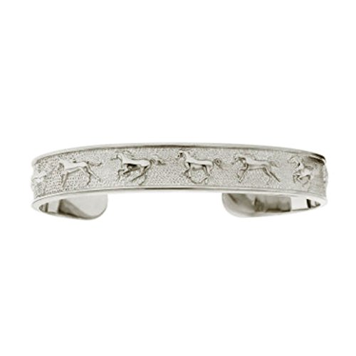 Kabana Horse Sterling Silver Galloping Horses Cuff Bracelet ()