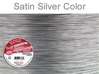 100ft Clear Silver Satin - 9