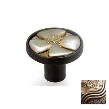 Anne at Home 7201-2.132 Bloom 3 in. Pull in Bronze with Champagne Pewter
