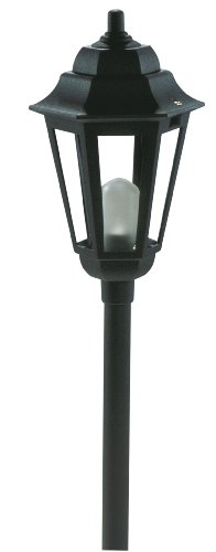 Paradise GL22768BK Low Voltage Cast Aluminum 10-Watt Halogen Savana Post Fixture, Black - 1 Light 12v Path