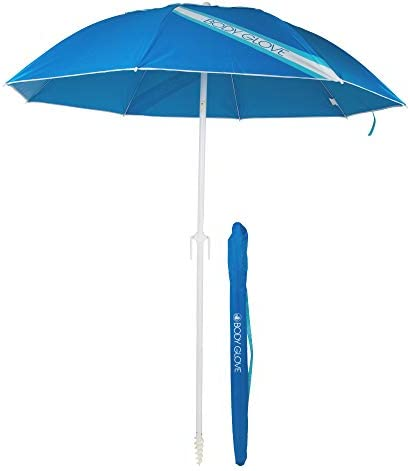 Verseo Body Glove 7 Foot Beach Umbrella Neptune Blue Logo