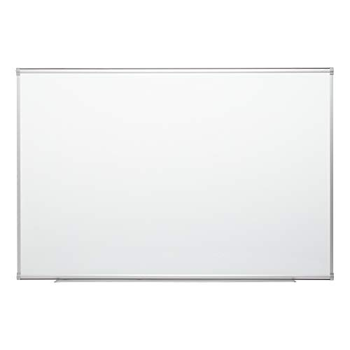Learniture 4'x6' Porcelain Steel Magnetic Dry Erase Board/ Whiteboard w/Aluminum Frame & Map Rail 827-SO