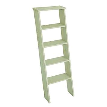En Bois De Décoration Escalier Vert, Env. 38 X 118 Cm, Escalier En