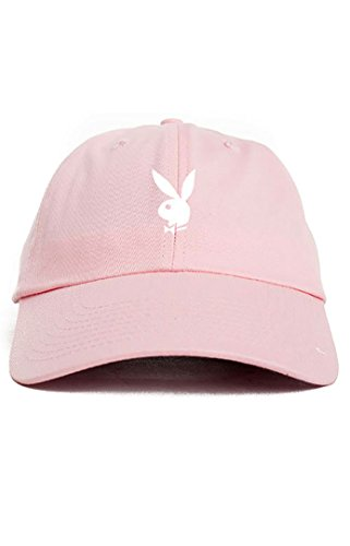 playboy-bunny-unstructured-dad-hat-pink