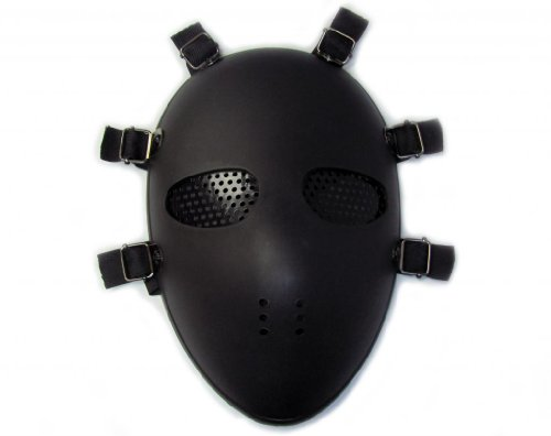 Alien Full Protection Safety Impact Resistance Face Mask Airsoft Paintbal BB Gun, Black ()