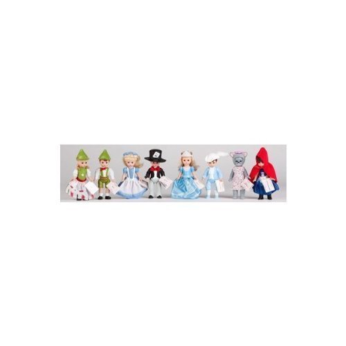 (2010 Madame Alexander 8 Pcs. Doll Set Factory Sealed From Mcdonalds Contains Alice in Wonderland , Mad Hatter , Cinderella , Prince Charming , Gretel , Hansel , Little Red Riding Hood , Wendy As the Big Bad Wolf)