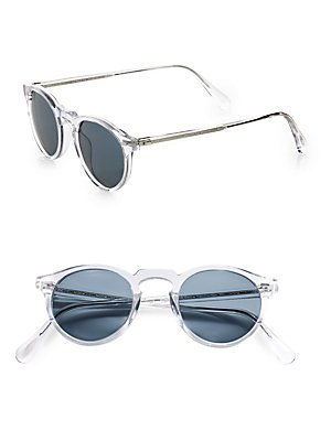 Oliver Peoples 5217-S Gregory Peck Sunglasses 1101/R8 Translucent Crystal Photochromic VFX Lenses (Oliver Peoples Sunglasses)
