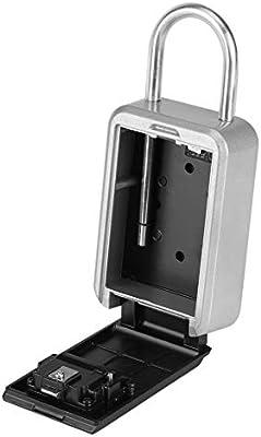 Caja de Seguridad portátil de 4 dígitos para Cerradura de Llave con combinación de Puerta con código para el Almacenamiento de la Llave de la casa: Amazon.es: Bricolaje y herramientas