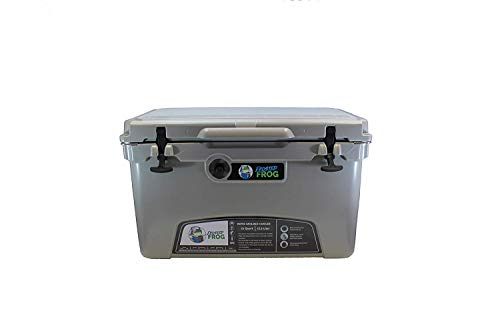 Frosted Frog Gray 75 Quart Ice Chest Heavy Duty High Performance Roto-Molded Commercial Grade Insulated Cooler