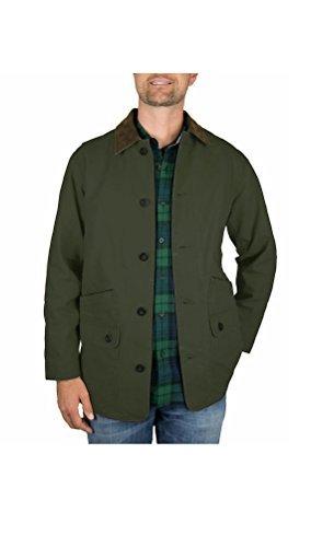 Orvis Men's Corduroy Collar Cotton Barn Jacket (Large, Sage) Heavy Canvas Jacket