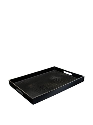 Accents by Jay Alligator Rectangle Tray, (Large Serving Tray)