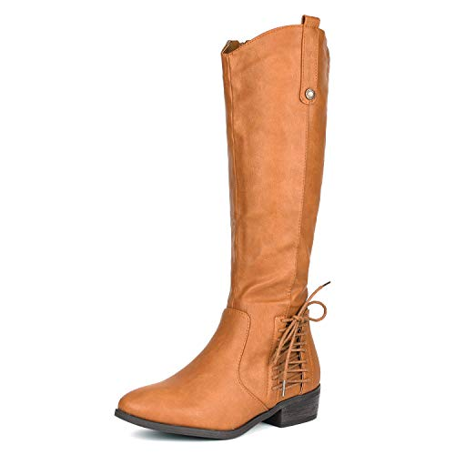 (DREAM PAIRS Women's Acker Camel Knee High Boots Size 5 B(M) US)
