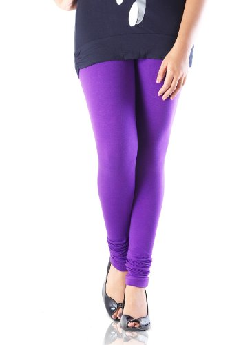 IndusDiva Women's Purple Stretchable Cotton Legging