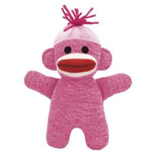 Schylling Pink Baby Sock Monkey -