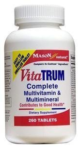 - Vitatrum Complete Multivitamin and Multiminaral Tablets - 260 Ea by Mason Vitamins