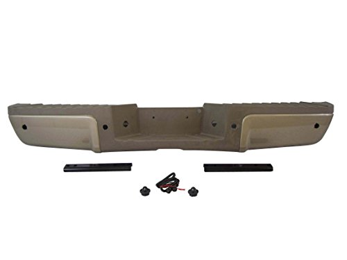 Painted Pueblo Gold Rear Bumper Assy GLD PAD 2008-2012 Ford Super Duty With Sensor Hole (Ford Super Duty Rear Bumper compare prices)