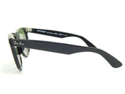 Ray Ban Wayfarer Polarized RB2140 901/58 Black/G-15 XLT Polarized 54mm Sunglasses